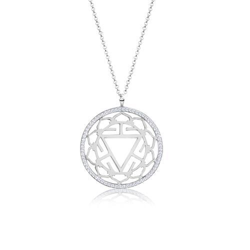 Halskette Solarplexus Chakra Kristalle 925 Silber Nenalina Silber