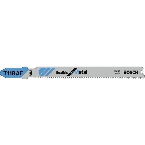 Bosch - Stichsägeblatt T 118 AF. Flexible for Metal. 3er-P