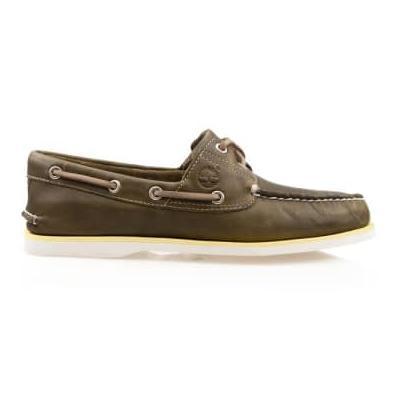 Timberland - Classic Boat Shoe A 418 H Olive Full Grain - UK 10