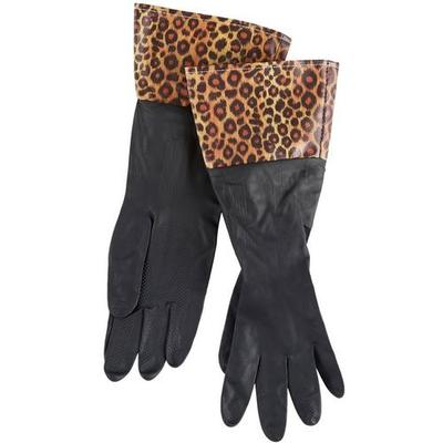 Home Expressions Leopard Rubber Gloves