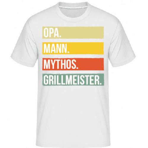 Opa Mann Mythos Grillmeister - Shirtinator Männer T-Shirt