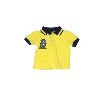 Z Boys Wear Short Sleeve Polo Shirt: Yellow Solid Tops - Size 3Toddler