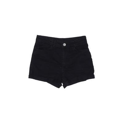 H&M Denim Shorts: Black Solid Bo...