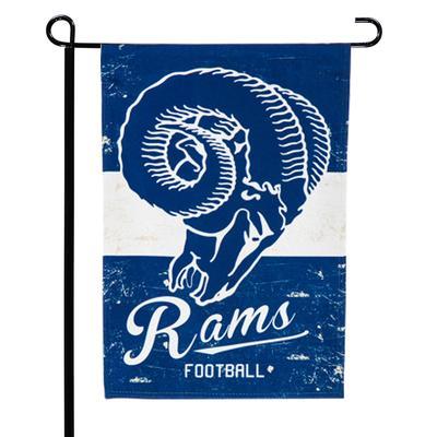 "Los Angeles Rams 12.5"" x 18"" Vintage Linen Garden Flag"