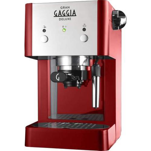 Gaggia Gran Deluxe, Siebträgermaschine, Rot