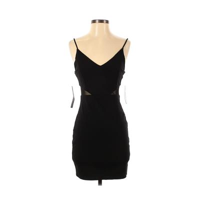 Sunset & Spring Casual Dress - Bodycon: Black Solid Dresses - Used - Size Small
