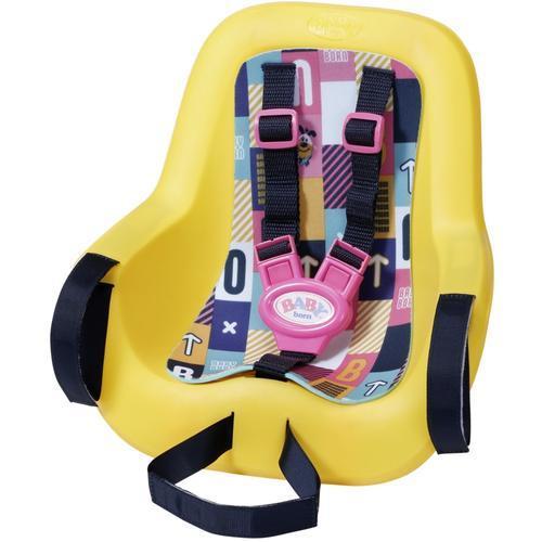 Baby Born Puppen Fahrradsitz, zur Befestigung am Kinderfahrradsitz gelb Kinder Fahrradsitz Puppenzubehör