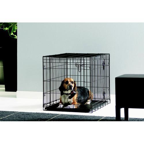 HEIM Hundekäfig Dog Cottage, in versch. Größen schwarz Hundetransport Hund Tierbedarf