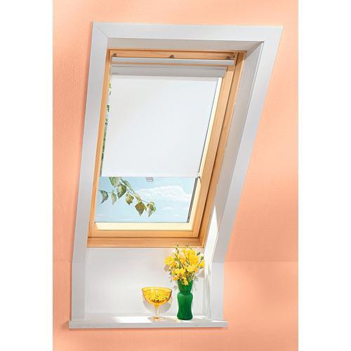 VELUX Dachfensterrollo, Lichtschutz weiß Dachfensterrollo Dachfensterrollos Rollos Jalousien