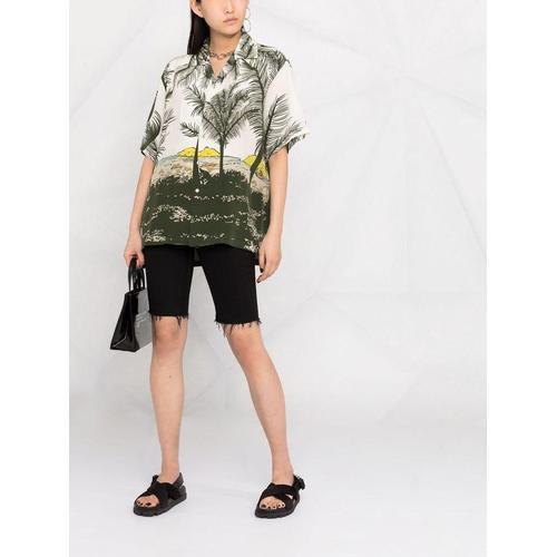 P.A.R.O.S.H. Hemd mit Palmen-Print