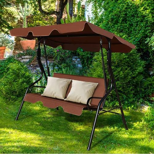 Hollywoodschaukel Gartenschaukel Schaukel Gartenliege Schaukelbank Gartenbank mit Sonnendach