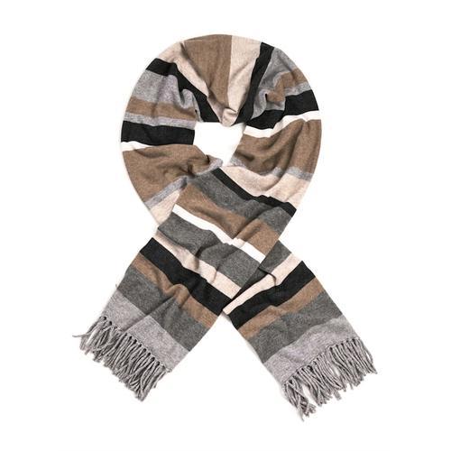 Alba Moda, Schal aus hochwertigem Kaschmir, grau