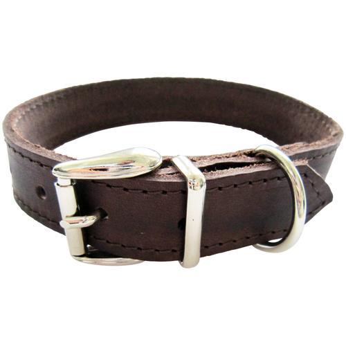 HEIM Hunde-Halsband, Echtleder, Länge: 65 cm braun Hundehalsbänder Hund Tierbedarf Hunde-Halsband