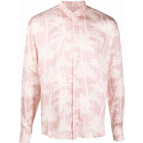 Laneus Hemd mit Palmen-Print