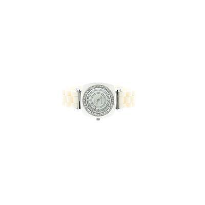 Geneva Watch: White Solid Accessories