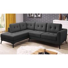 Canapé d angle en tissu collection Charm : Angle droit / Gris foncé