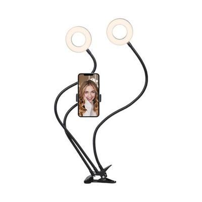 Cygnett Black V-Dual Classic 2-in-1 Dual Ring Light with Phone Holder