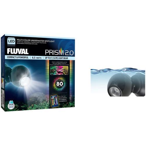 FLUVAL LED Aquariumleuchte FL 6.5W RGB Spot Light, 6,5 W schwarz Aquarium-Beleuchtung Aquaristik Tierbedarf