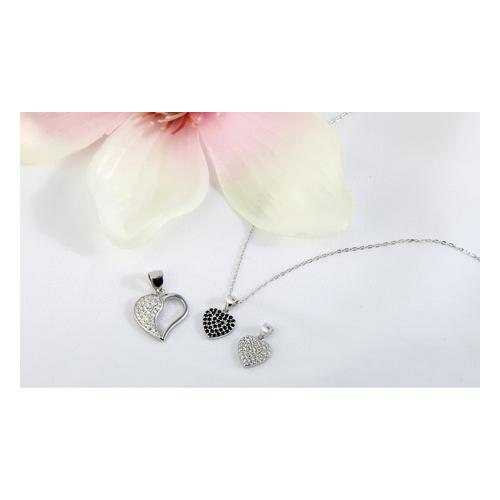 Anhänger in Herzform / Silber / Modell 6