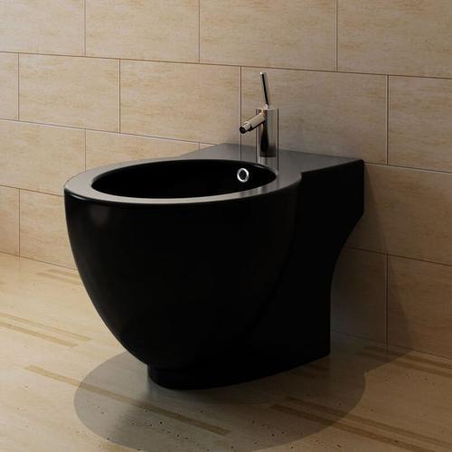 Standbidet Stand-Bidet Bodenstehend Bidet Keramik schwarz