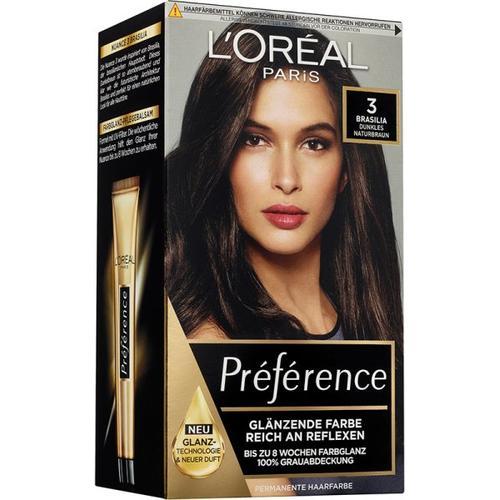 L'Oréal Paris Préférence 3 Dunkles Naturbraun (Brasilia) Coloration 1 Stk. Haarfarbe
