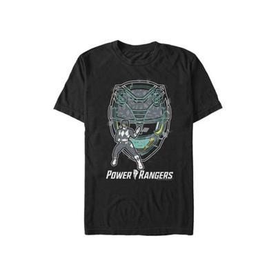 Power Rangers Black Black Ranger Hero Graphic T-Shirt