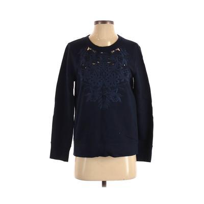 J.Crew Sweatshirt: Blue Solid Clothing – Size Small