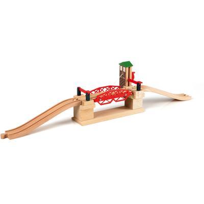 BRIO Spielzeugeisenbahn-Brücke WORLD Hebebrücke, FSC-Holz aus gewissenhaft bewirtschafteten Wäldern bunt Kinder Ab 3-5 Jahren Altersempfehlung