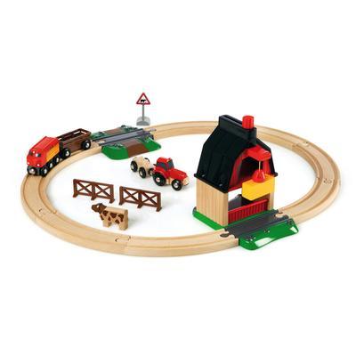 BRIO Spielzeug-Eisenbahn WORLD Bauernhof Set, Made in Europe, FSC-Holz aus gewissenhaft bewirtschafteten Wäldern bunt Kinder Ab 3-5 Jahren Altersempfehlung