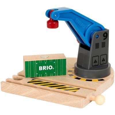 BRIO Spielzeugeisenbahn-Erweiterung WORLD Eisenbahn-Magnetkran, FSC-Holz aus gewissenhaft bewirtschafteten Wäldern bunt Kinder Ab 3-5 Jahren Altersempfehlung