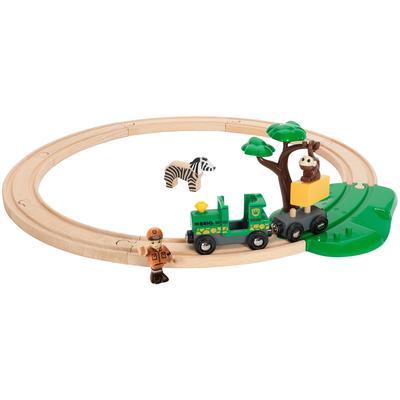 BRIO Spielzeug-Eisenbahn WORLD Safari Bahn Set, FSC-Holz aus gewissenhaft bewirtschafteten Wäldern beige Kinder Ab 3-5 Jahren Altersempfehlung
