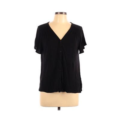 Old Navy Short Sleeve Top Black Solid V-Neck Tops – Used – Size Large