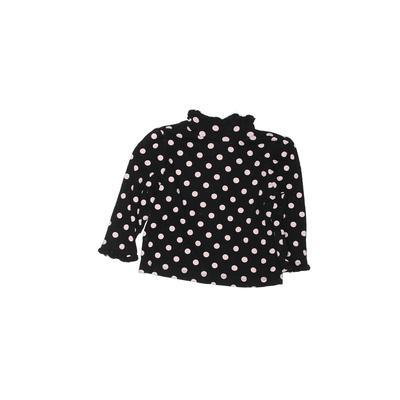 Gymboree Long Sleeve T-Shirt: Black Polka Dots Tops – Size 18-24 Month