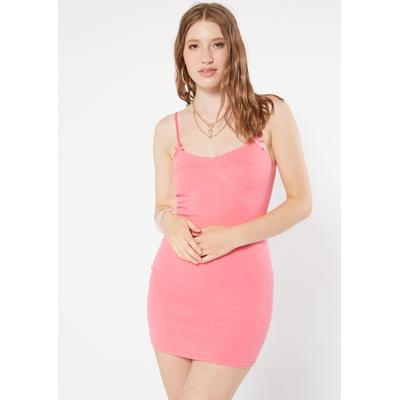 Rue21 Womens Pink Corset Cup Bodycon Mini Dress - Size S
