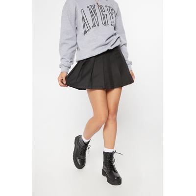 Rue21 Womens Black Drop Waist Pleated Mini Skirt - Size S