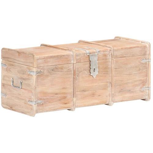 Holztruhe 90x40x40 cm Akazie Massivholz