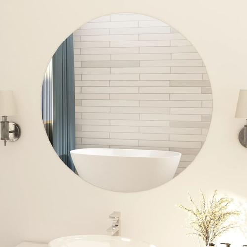 YOUTHUP Rahmenloser Spiegel Rund 90 cm Glas