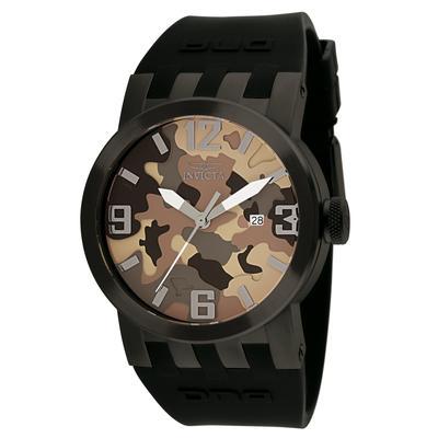 Invicta DNA Swiss Movement Quartz Watch - Gunmetal case with Black tone Silicone band - Model 10458