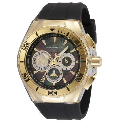 TechnoMarine Cruise California Men's Watch w/ Metal Mother of Pearl Oyster Dial - 46.65mm Black (TM-120025)