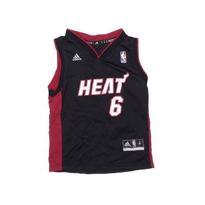 NBA Sleeveless Jersey: Black Solid Sporting & Activewear - Size Medium
