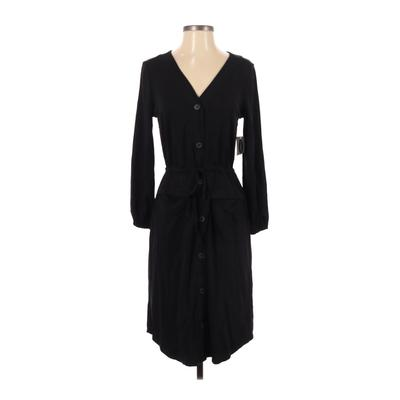 Old Navy - Old Navy Casual Dress - Shirtdress: Black Solid Dresses - Used - Size Small