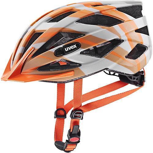 Fahrradhelm air wing cc gr-ora mat 52-57 grau/orange