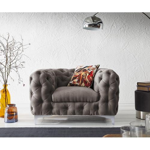 DELIFE Clubsessel Corleone 120x97 cm Khakibraun Loungesessel, Relaxsessel