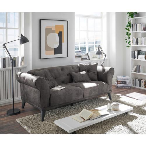 DELIFE Schlafsofa Carey 188x95 cm Graphite 2-Sitzer, Schlafsofas