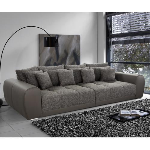 DELIFE Bigsofa Macie 306x134 cm Schlamm mit Kissen, Big Sofas