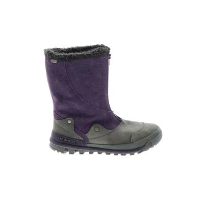 Merrell Boots: Purple Solid Shoes - Size 9