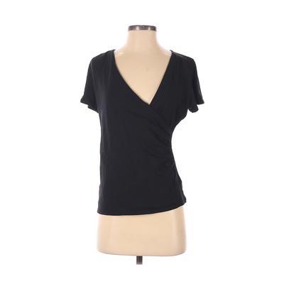 Talbots Short Sleeve Top Black S...