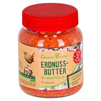 Erdnuss-Butter mit Waldfrüchten für Wildvögel, im Glas, 340 g
