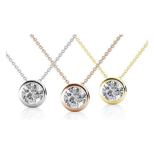 Halskette mit Kristall-Anhänger: 1/ Silber