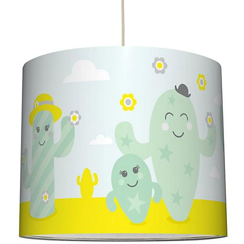 "Hängelampe Lampenschirm Kinder mit Kaktus & Kakteen ""Family Cactus"" mint"